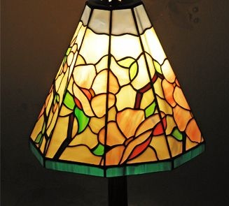 Stained glass lamps and wall lamp